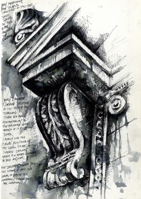 Fine Line Design Art Gallery : Architectural studies ian murphy sketchbooks