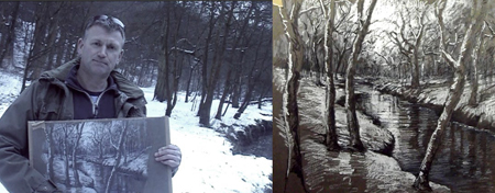 Drawing in the Snow Art Tutorial by Ian Murphy