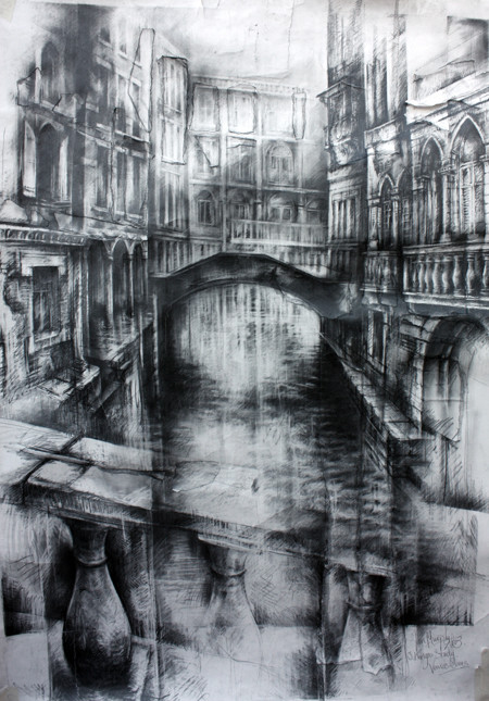 Three kings in the chasm ian murphy drawings for David hockney venezia