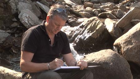 Sketchbook Waterfall Drawing