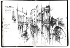 Venice - Drawing water and understanding perspective