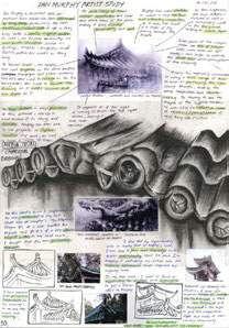 Ian Murphy inspired sketchbook
