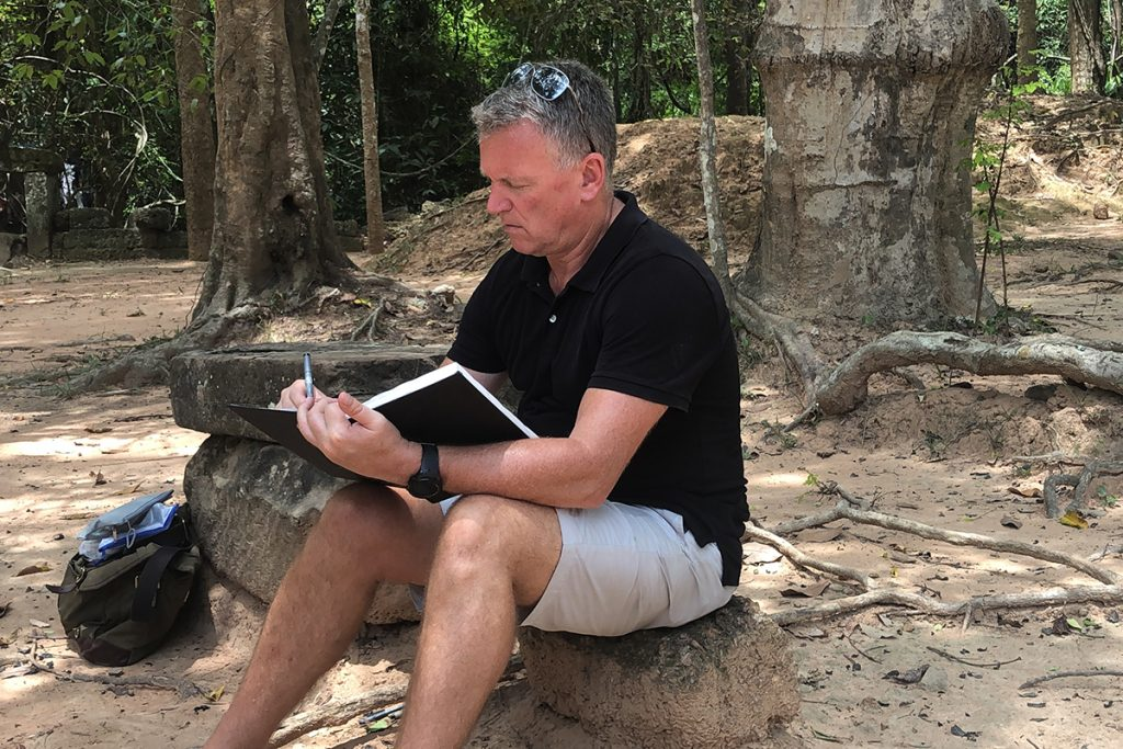 Ian Murphy in Angkor